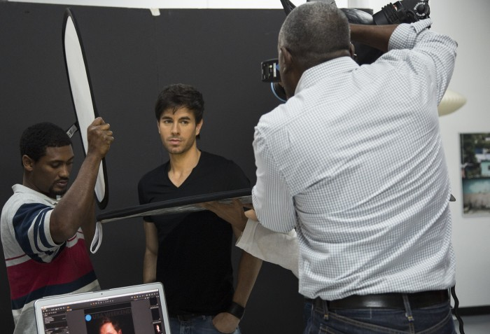 Enrique Iglesias is photographed by Miami portrait and advertising Photographer Jeffery Salter