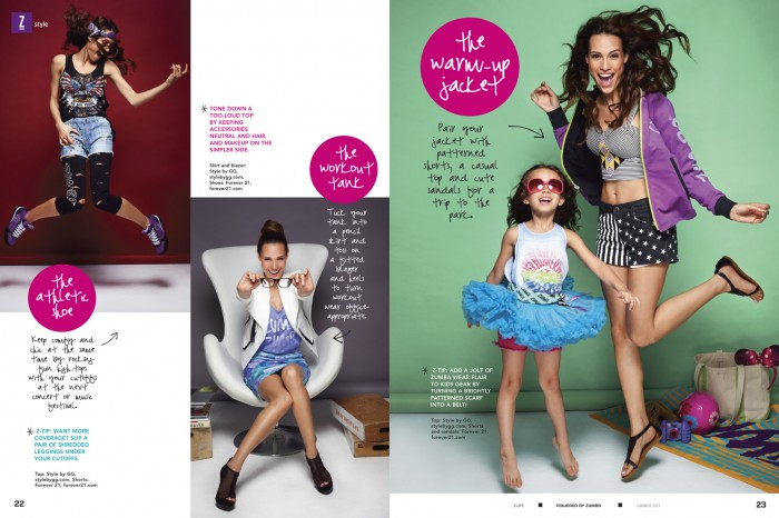 Zumba fashion story for Z-Life magazine. Miami Photographer Jeffery Salter photographs for Zumba in Miami Florida
